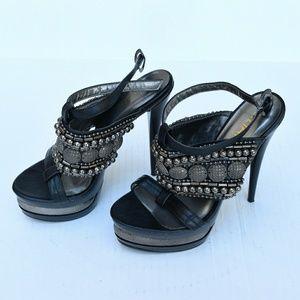 Bead-Studded Liliana Heels